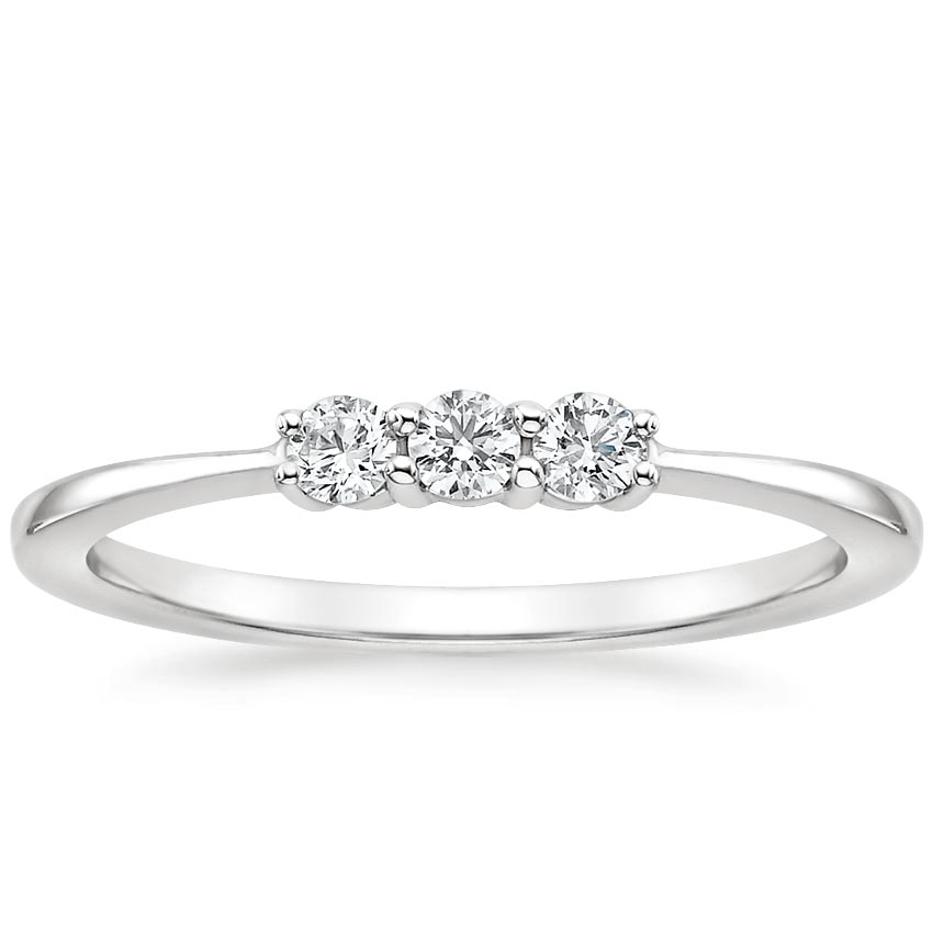 Etta Diamond Ring in 18K White Gold