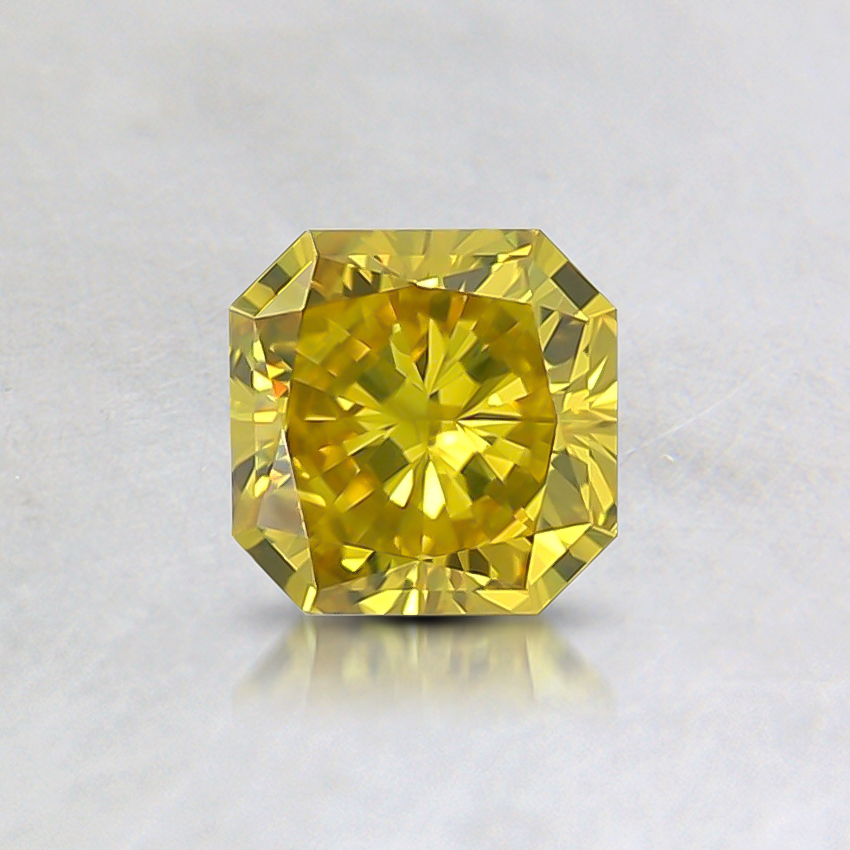 0.42 Ct. Fancy Intense Yellow Radiant Lab Created Diamond