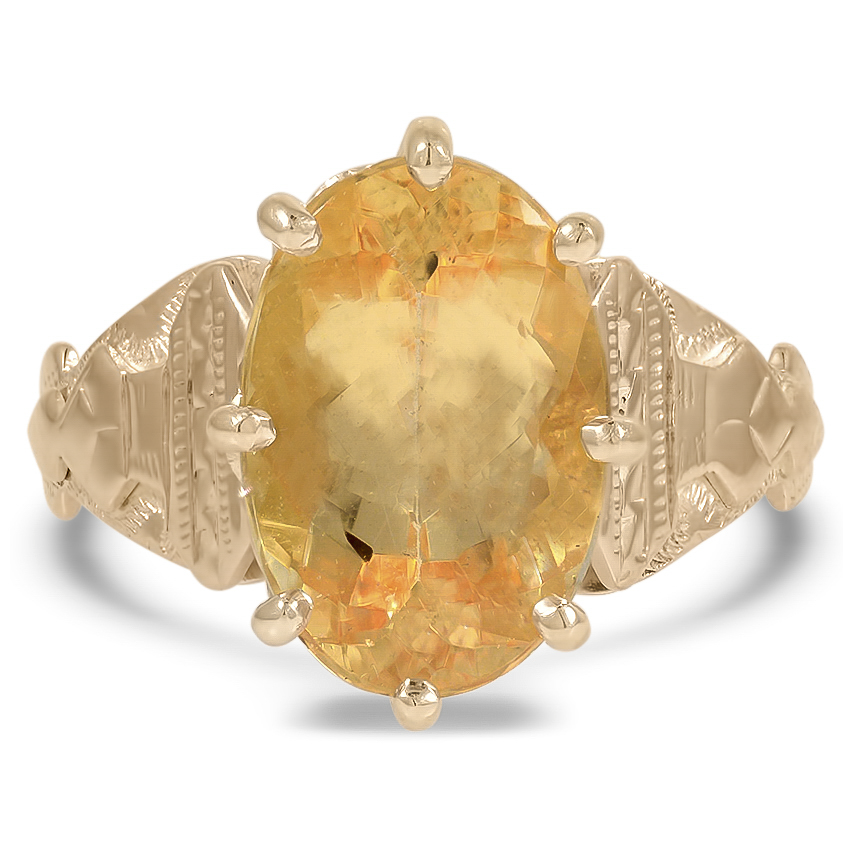 Victorian Topaz Cocktail Ring