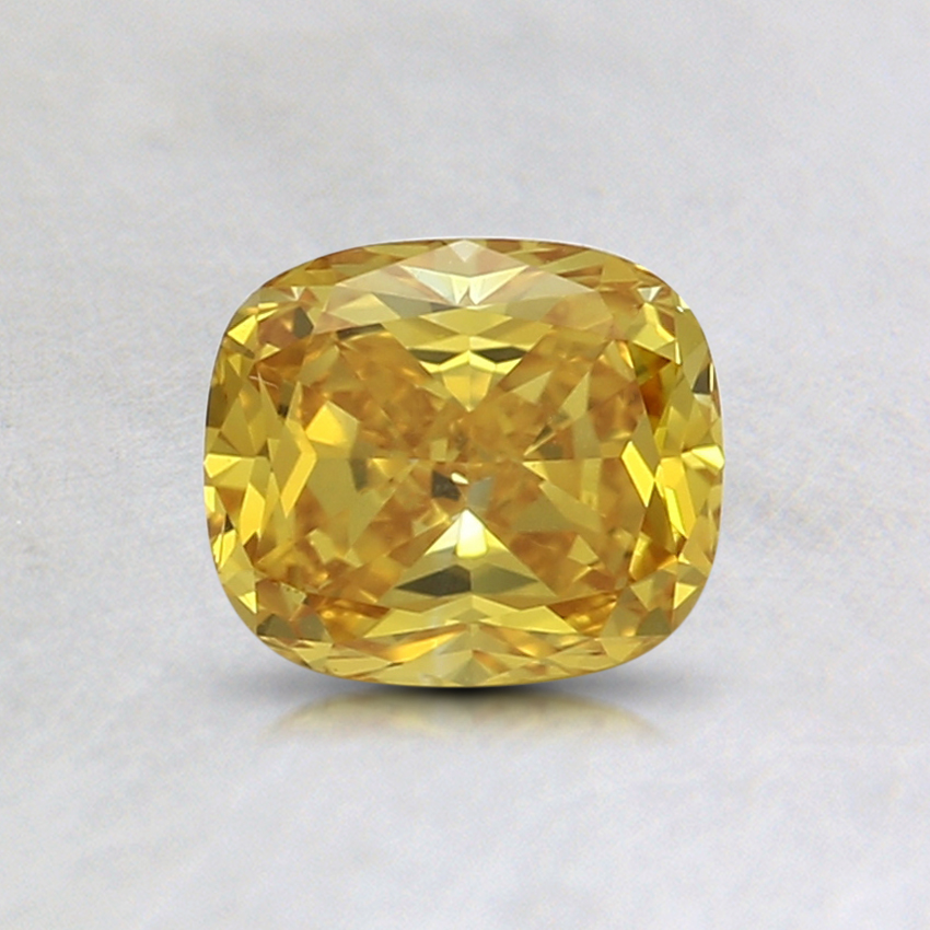 0.62 Ct. Fancy Vivid Orange-Yellow Cushion Lab Created Diamond