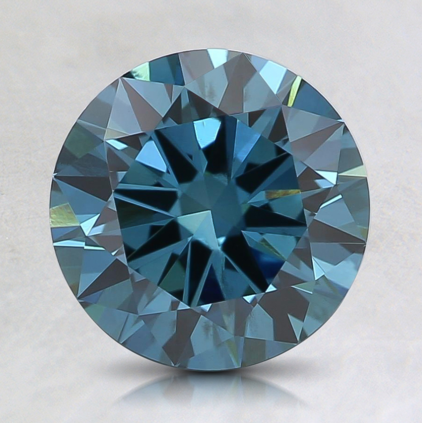 1.51 Ct. Fancy Deep Greenish Blue Round Lab Created Diamond