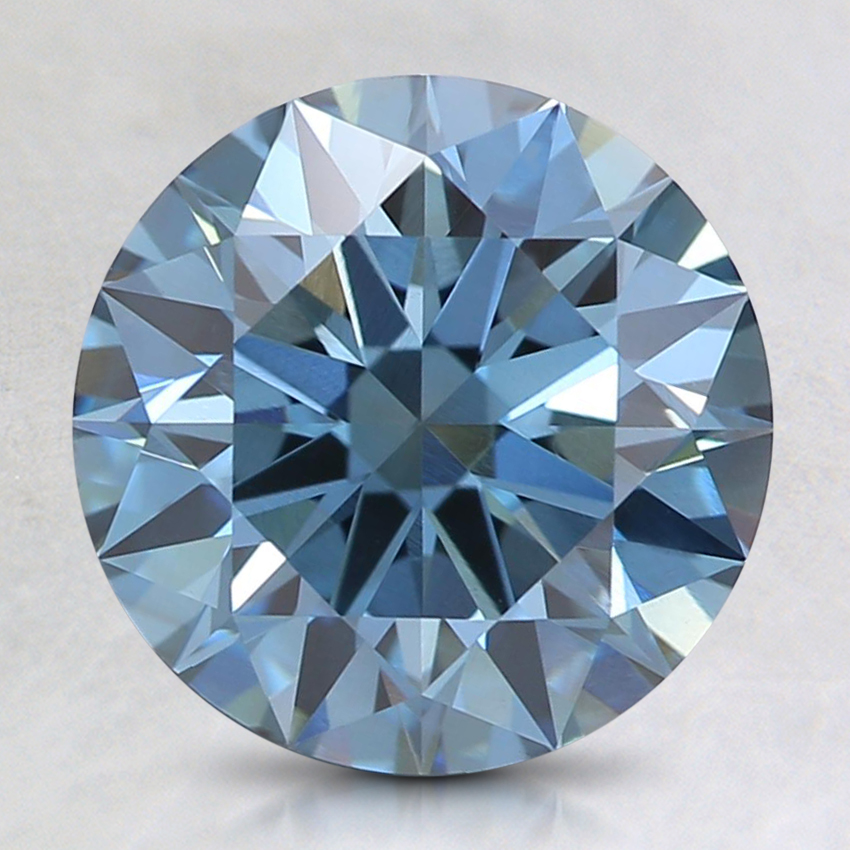 2.27 Ct. Fancy Deep Blue Round Lab Created Diamond