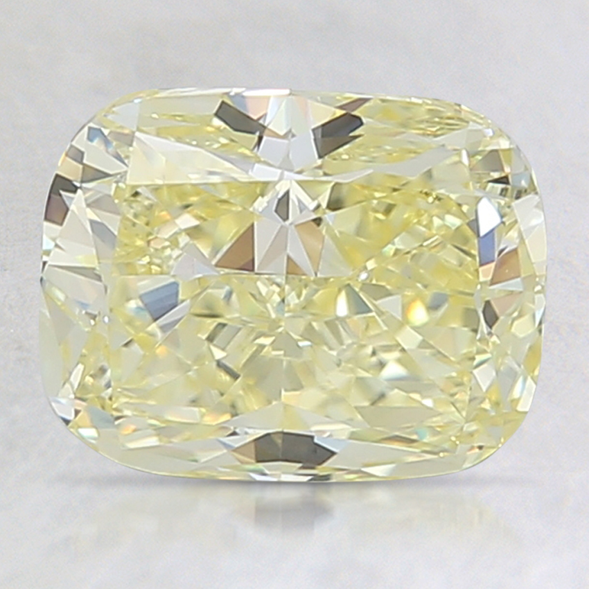 2.50 Ct. Fancy Yellow Cushion Lab Created Diamond