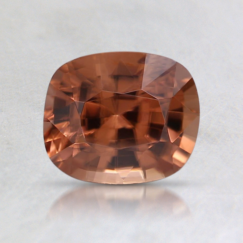 6.6x5.6mm Orange Cushion Sapphire