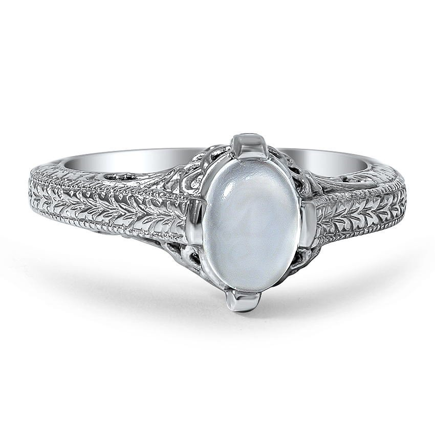 Custom Vintage Inspired Moonstone Ring