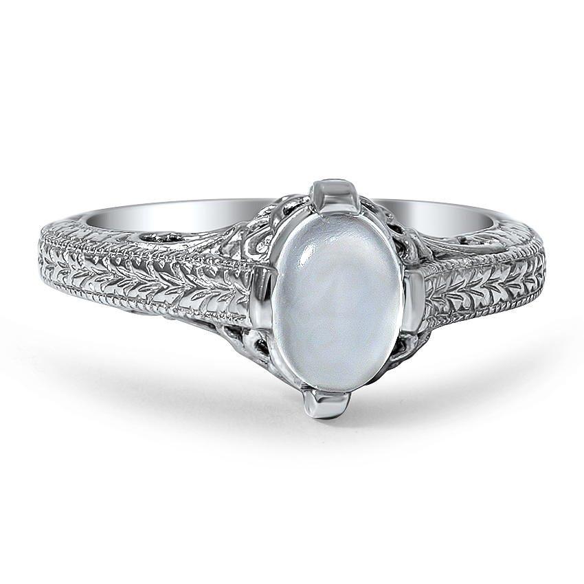 Custom Vintage Inspired Moonstone Ring