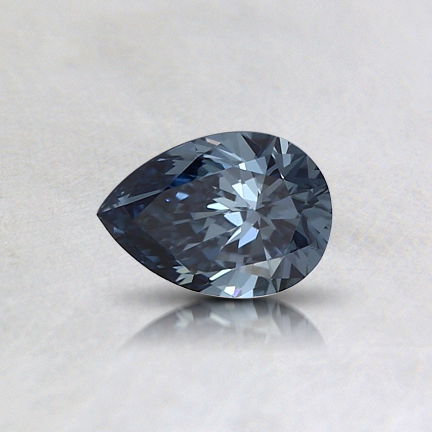 0.32 Ct. Fancy Deep Blue Pear Lab Created Diamond