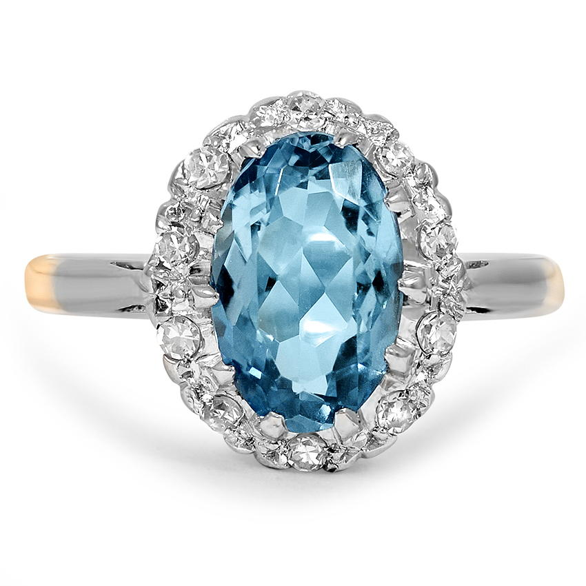 Retro Topaz Cocktail Ring