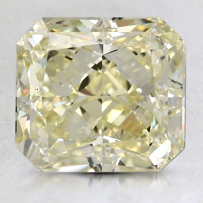3.51 Ct. Fancy Light Yellow Radiant Colored Diamond