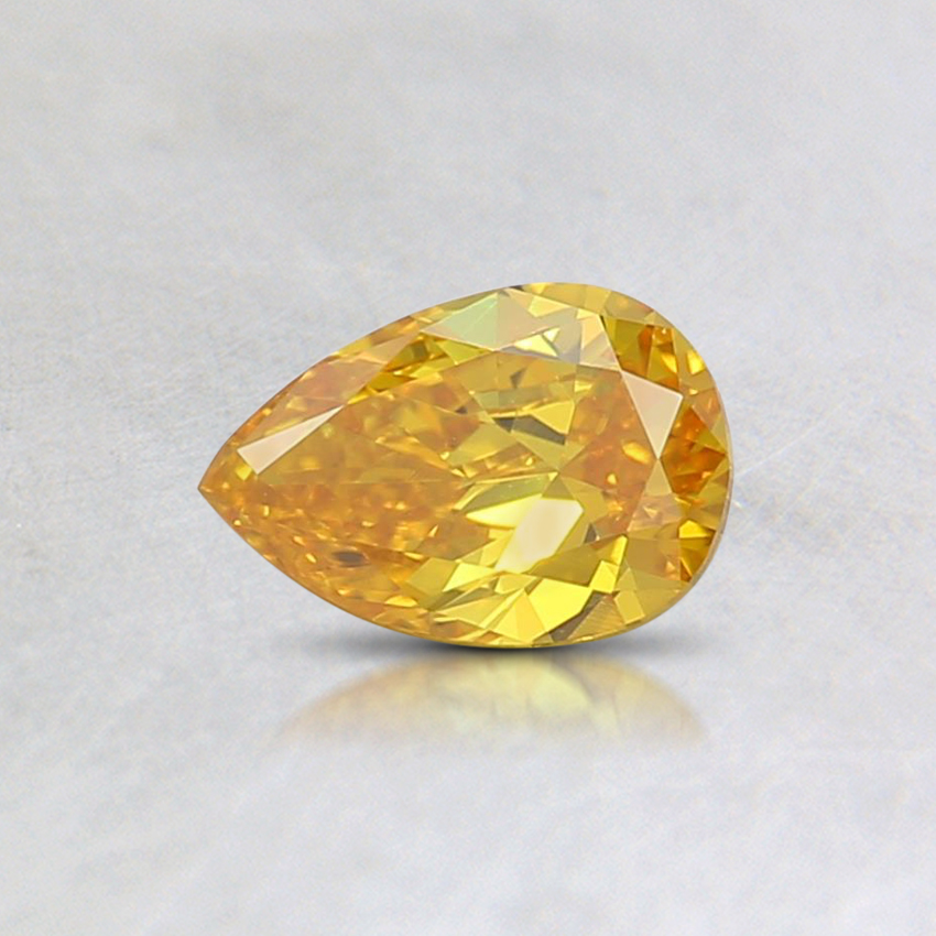0.33 Ct. Fancy Vivd Orange-Yellow Pear Lab Created Diamond