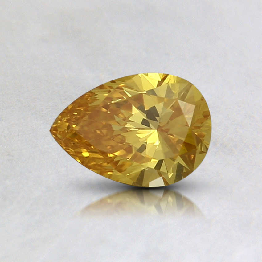 0.48 Ct. Fancy Intense Orange-Yellow Pear Lab Created Diamond