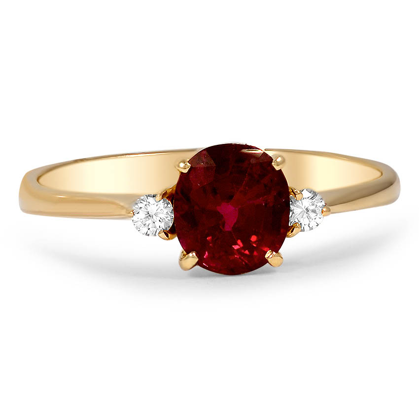 Modern Ruby Vintage Ring Jaleesa Brilliant Earth