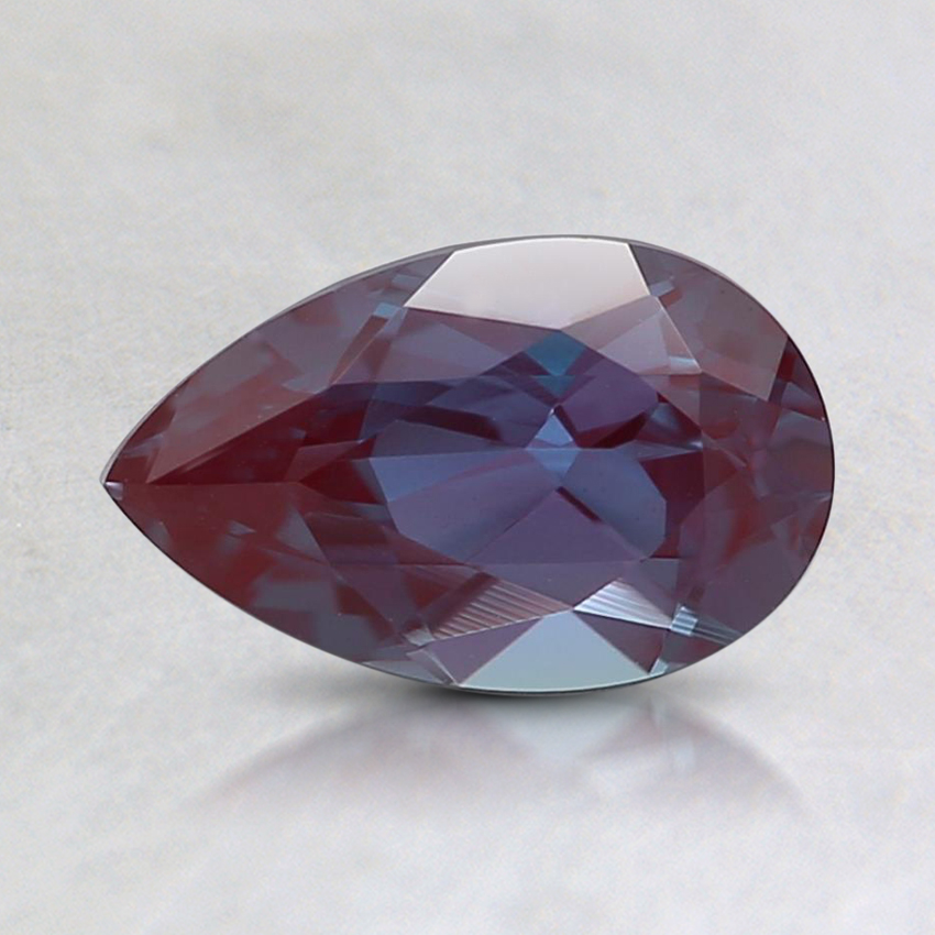 8x5mm Purple Pear Lab Created Alexandrite