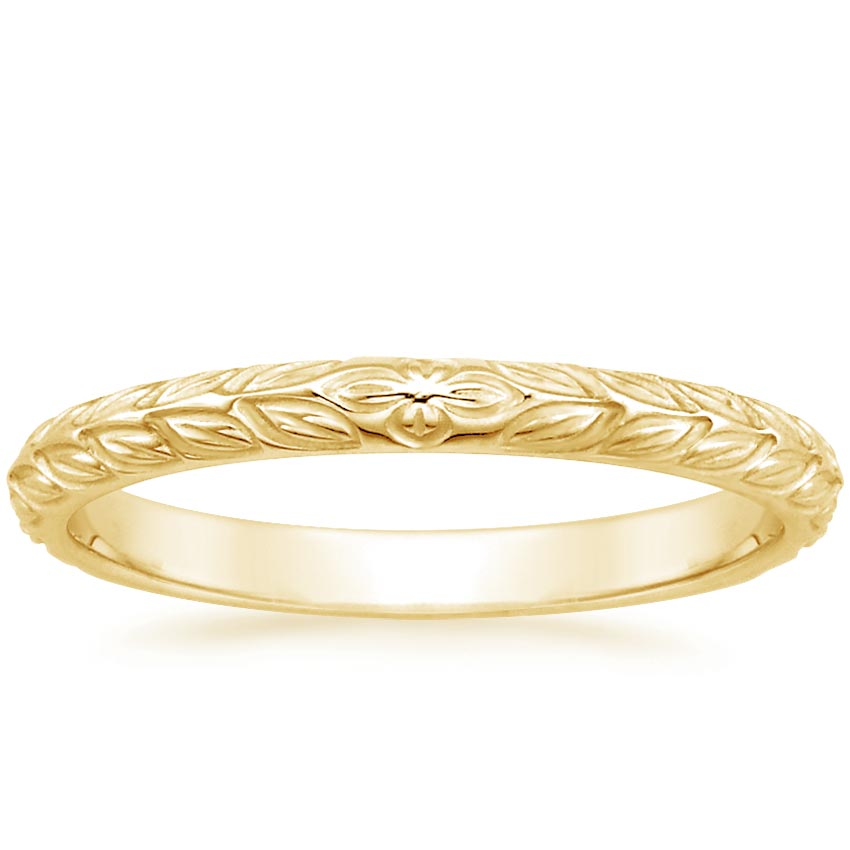 Yellow Gold Garland Ring