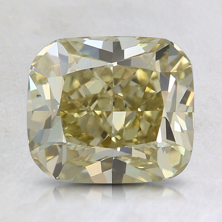 2.03 Ct. Fancy Brownish Greenish Yellow Cushion Diamond