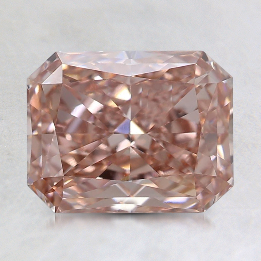 1.91 Ct. Fancy Pinkish Brown Radiant Lab Created Diamond