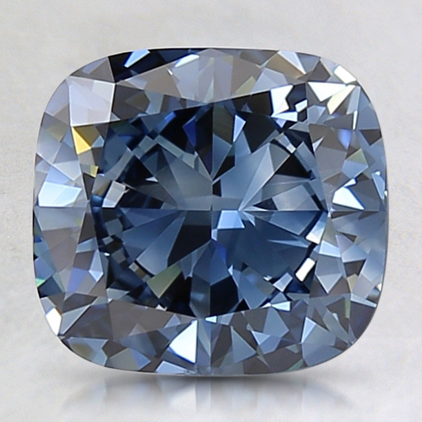 2.43 Ct. Fancy Deep Blue Cushion Lab Created Diamond