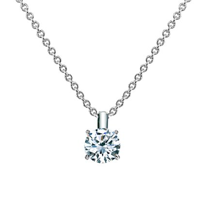 Platinum Four-Prong Diamond Pendant (1/2 ct. tw.), top view
