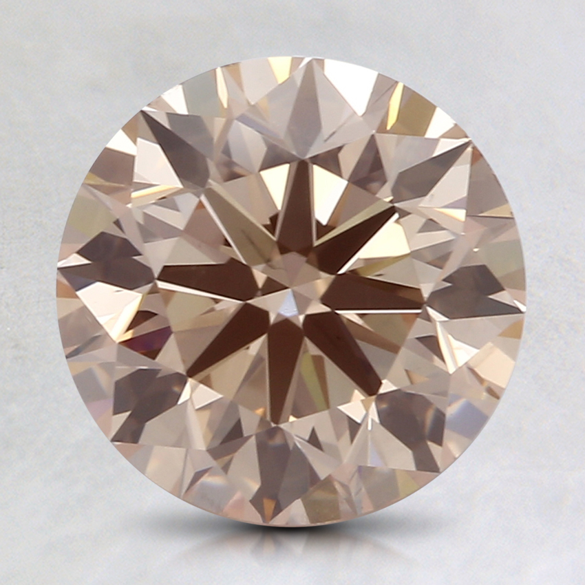 2.01 Ct. Fancy Light Orangy Brown Round Lab Created Diamond