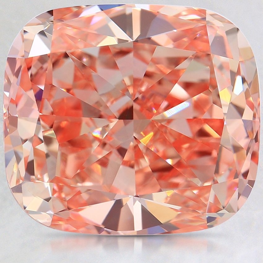 7.63 Ct. Fancy Pink Cushion Lab Created Diamond