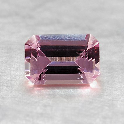 6.5X4.4mm Premium Pink Emerald Sapphire, top view