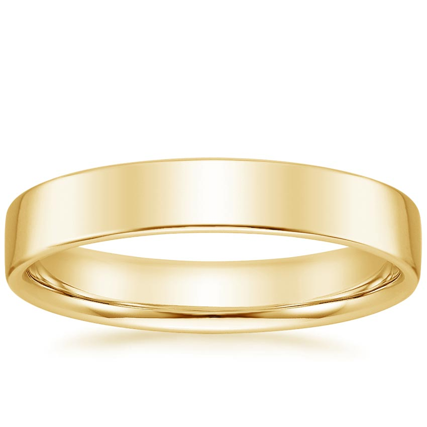 Yellow Gold 4mm Mojave Wedding Ring