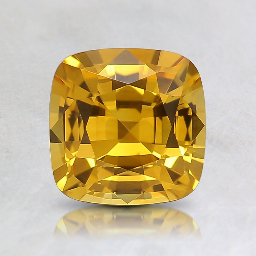 6.2mm Yellow Cushion Sapphire