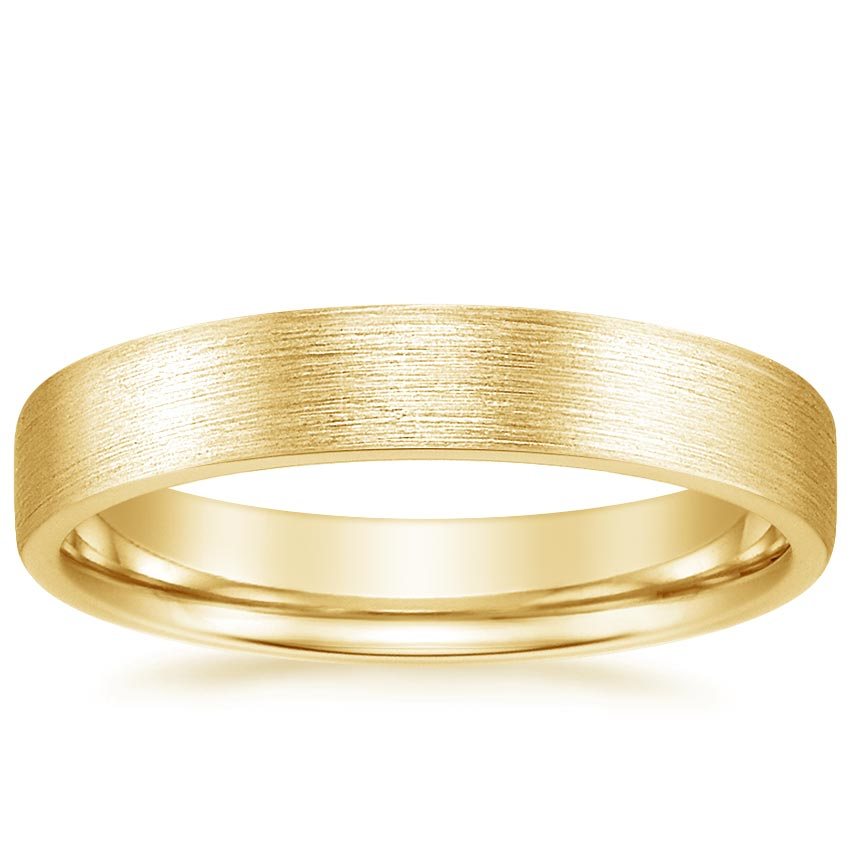 Yellow Gold 4mm Mojave Matte Wedding Ring