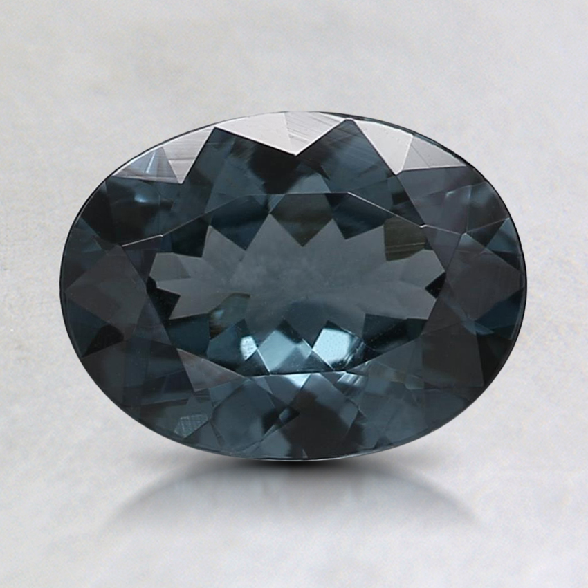 8.1x6.1mm Gray Oval Spinel