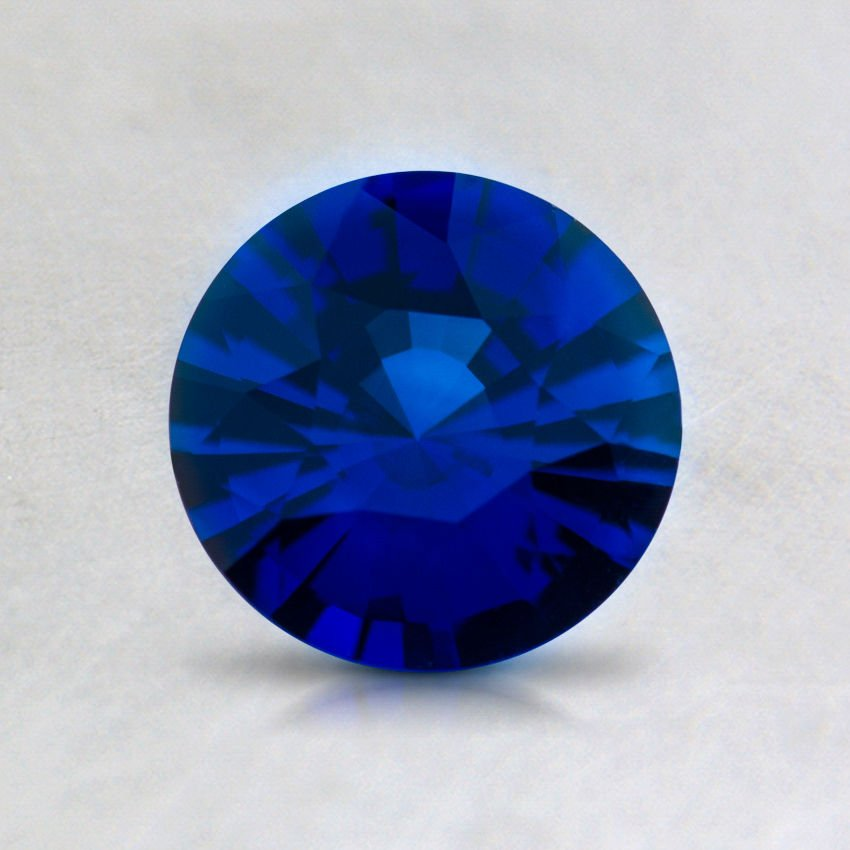 6mm Super Premium Blue Round Sapphire, top view