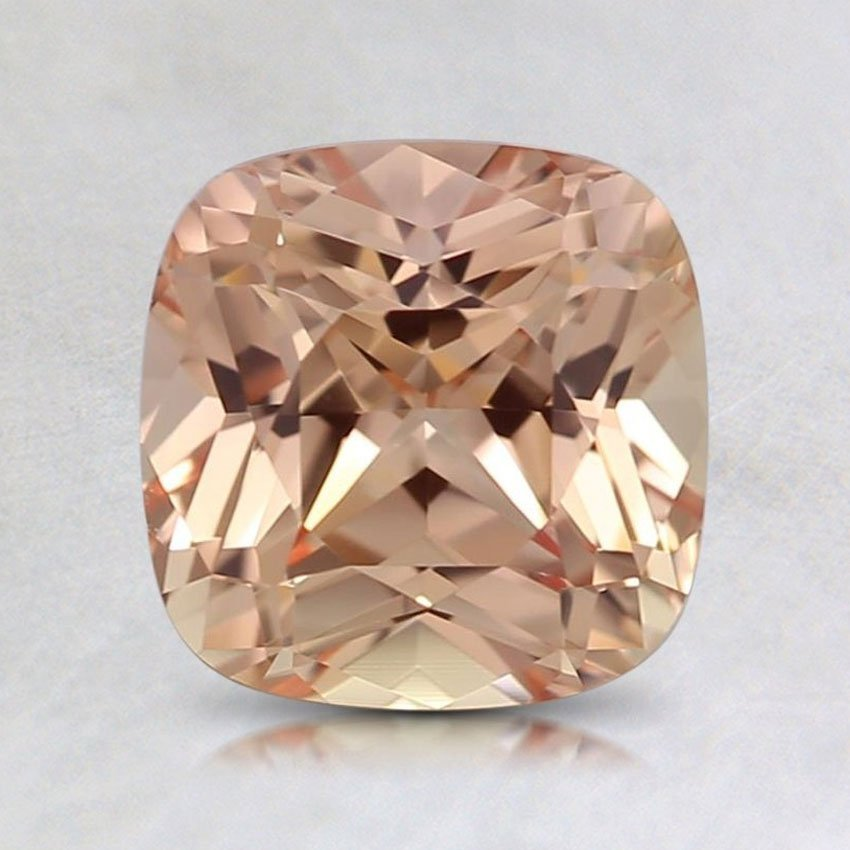 6.9mm Lab Created Peach Cushion Sapphire