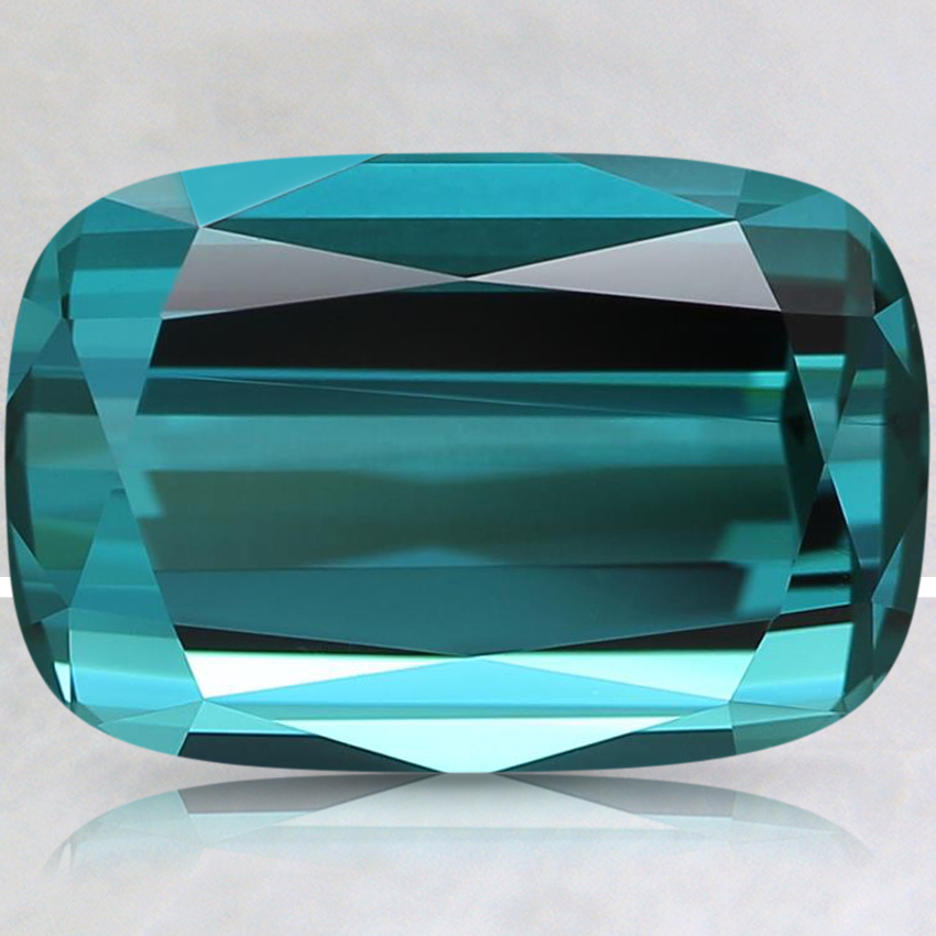 12.4x8.4mm Super Premium Teal Cushion Tourmaline