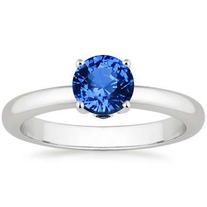 18K White Gold Sapphire Serendipity Ring, top view