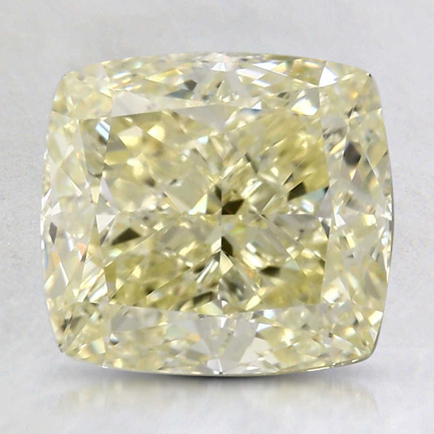 3.12 Ct. Fancy Yellow Cushion Colored Diamond