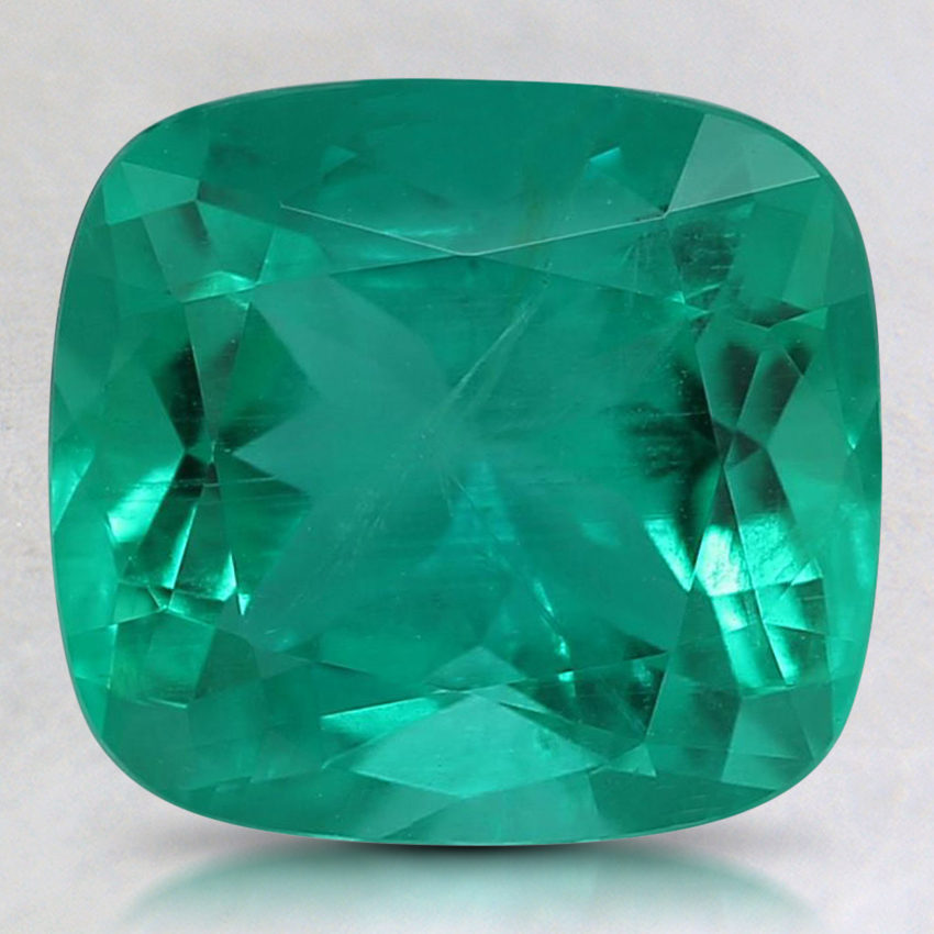 9.1x8.3mm Super Premium Cushion Emerald