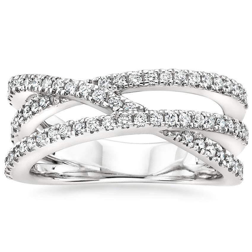 Entwined Bisou Diamond Ring (1/2 ct. tw.) in Platinum