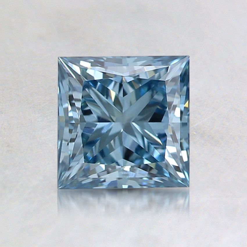 1.02 Ct. Fancy Blue Princess Lab Created Diamond