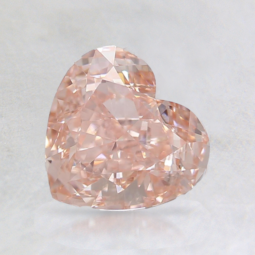 1.09 Ct. Fancy Intense Orangy Pink Heart Lab Created Diamond