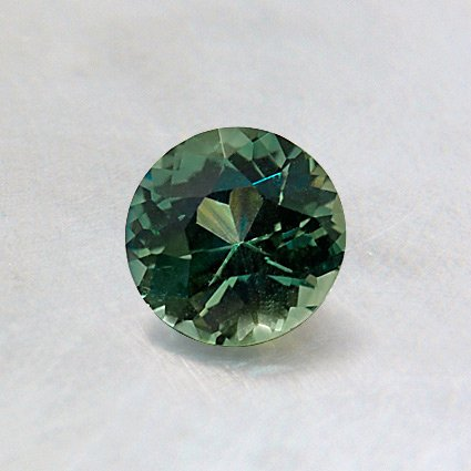 5mm Premium Green Round Sapphire, top view