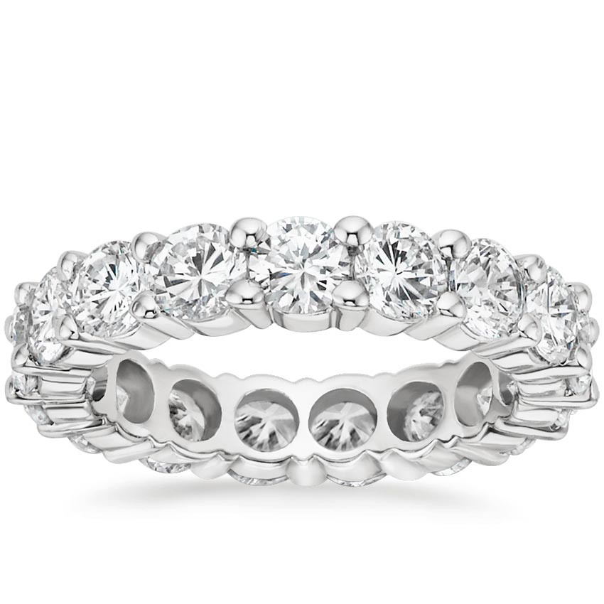 18K White Gold Diamond Eternity Ring (4 ct. tw.), top view