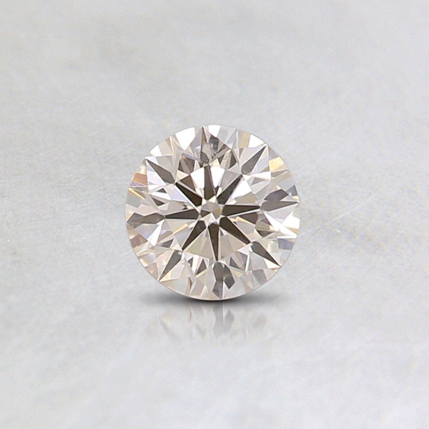 0.31 Ct. Very Light Orange Round Lab Created Diamond