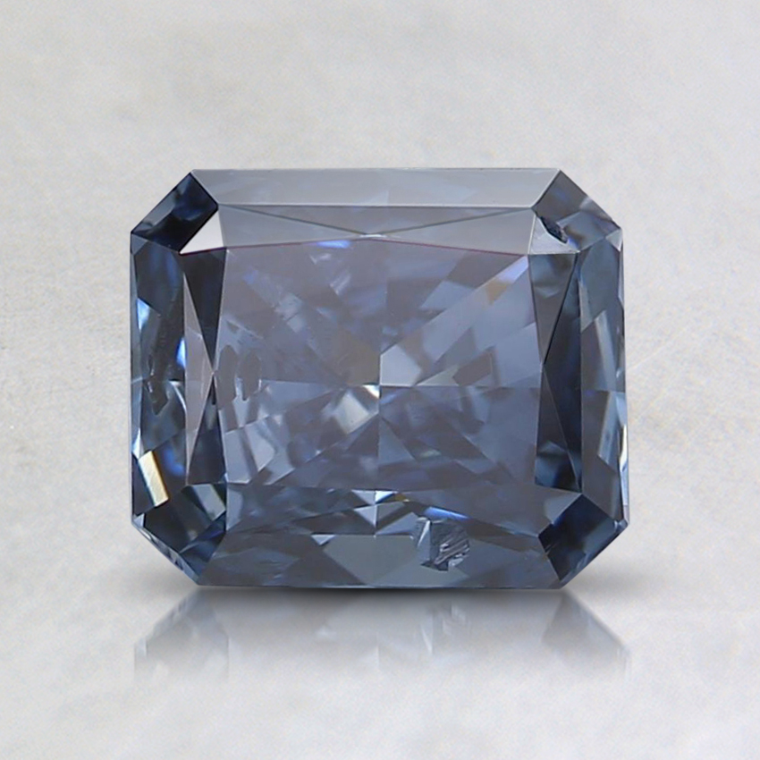1.05 Ct. Fancy Vivid Blue Radiant Lab Created Diamond