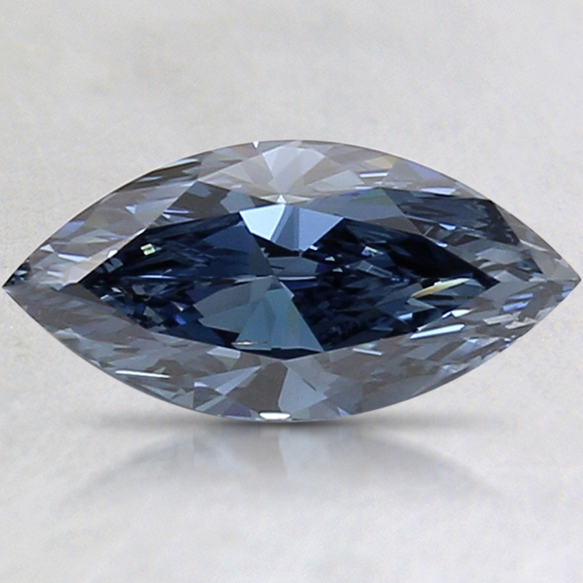 1.54 Ct. Fancy Deep Blue Marquise Lab Created Diamond