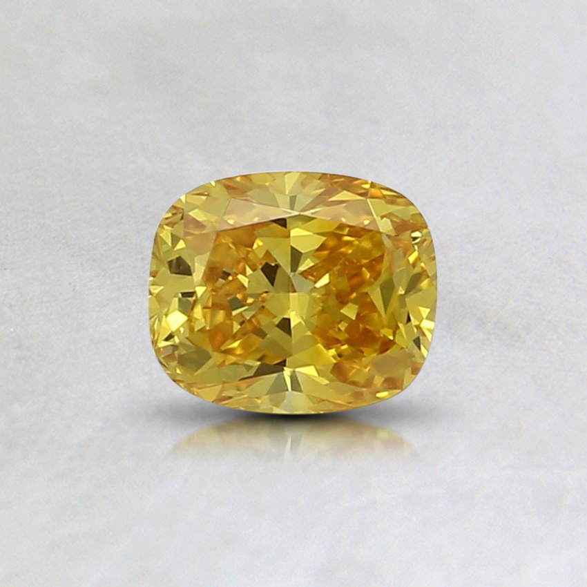 0.43 Ct. Fancy Vivid Yellow Cushion Lab Created Diamond