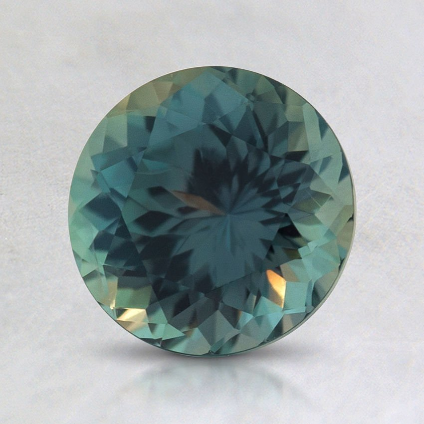 7mm Montana Teal Round Sapphire