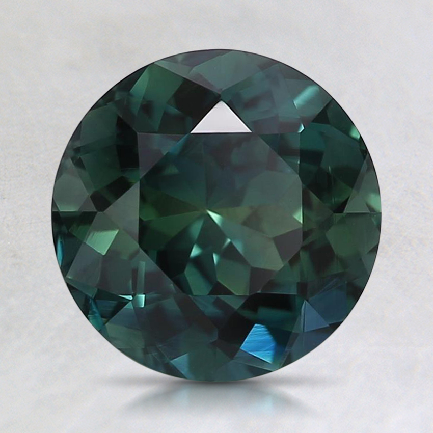 7.9mm Unheated Teal Round Sapphire