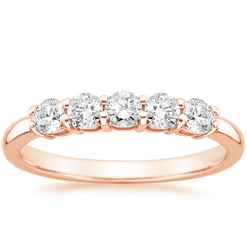Rose Gold Classic Five Stone Diamond Ring (1/2 ct. tw.)