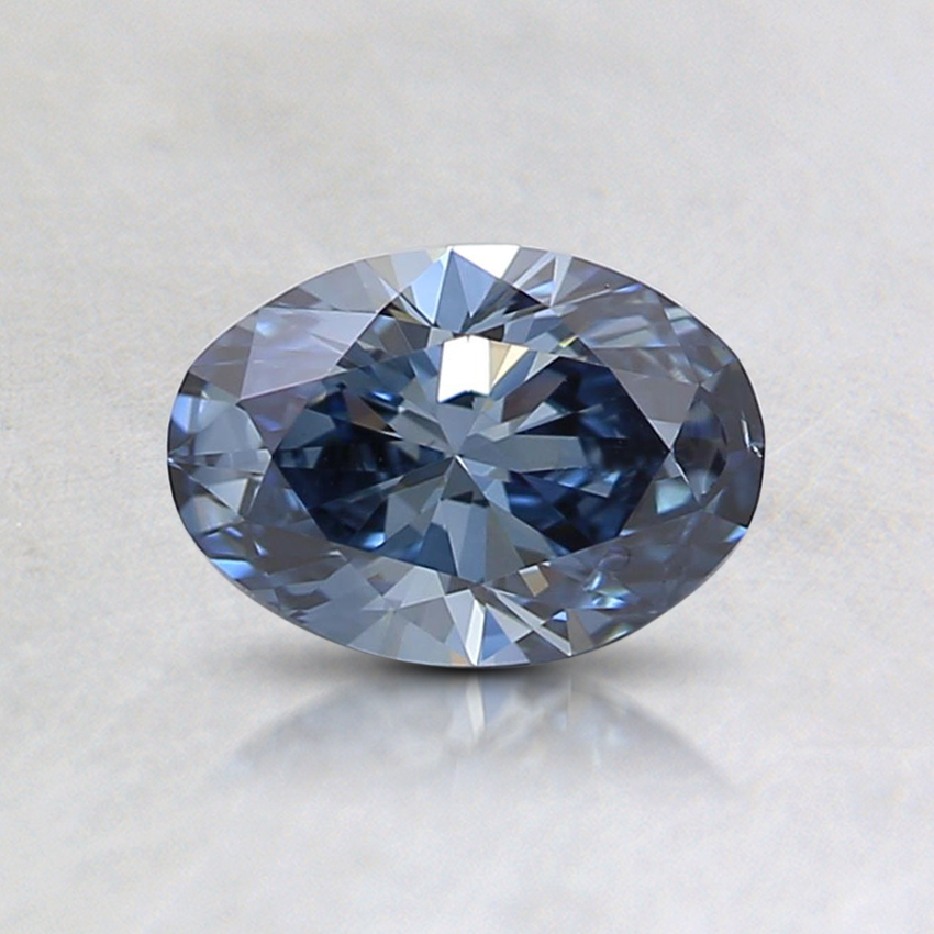 0.54 Ct. Fancy Deep Blue Oval Lab Created Diamond