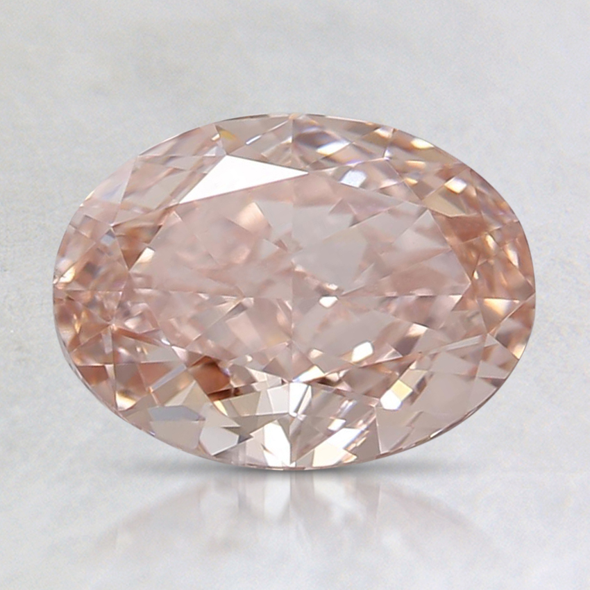 1.52 Ct. Fancy Intense Orangy Pink Oval Lab Created Diamond