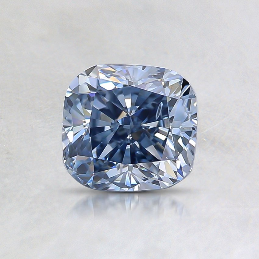 0.94 Ct. Fancy Blue Cushion Lab Created Diamond
